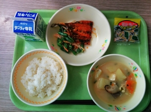 rice, miso soup, grilled fish and salad