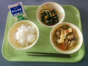rice, seaweed salad, boiled assortment