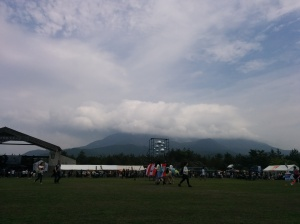 we wet to a rock festival at Sakurajima (volcano)