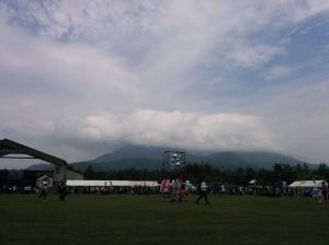 we wet to a rock festival at Sakurajima (volcano)