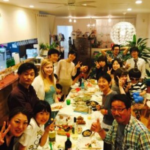monthly international party in Shibushi